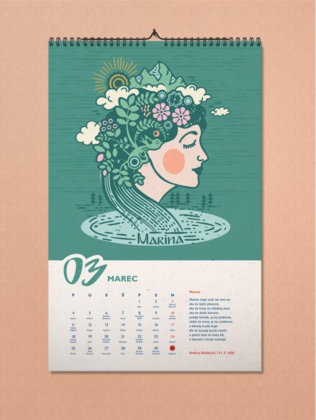 LiterArt nástenný kalendár 2019