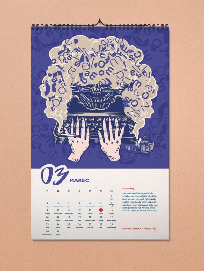 LiterArt nástenný kalendár 2020