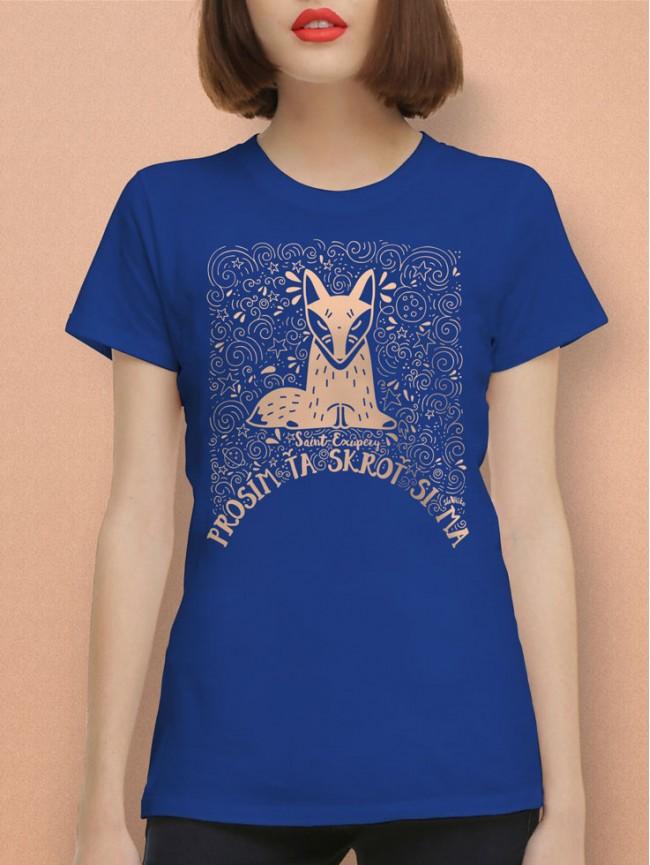 Exupéry tričko unisex modré