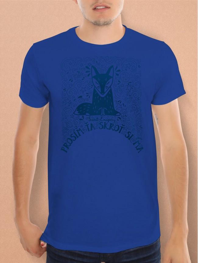 Exupéry tričko unisex modromodré