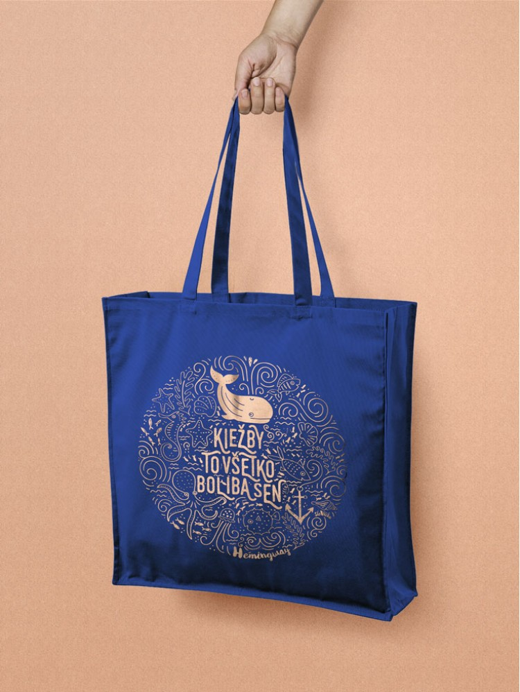 Hemingway Tote taška modrá