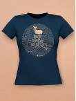 Hemingway tričko dámske modré
