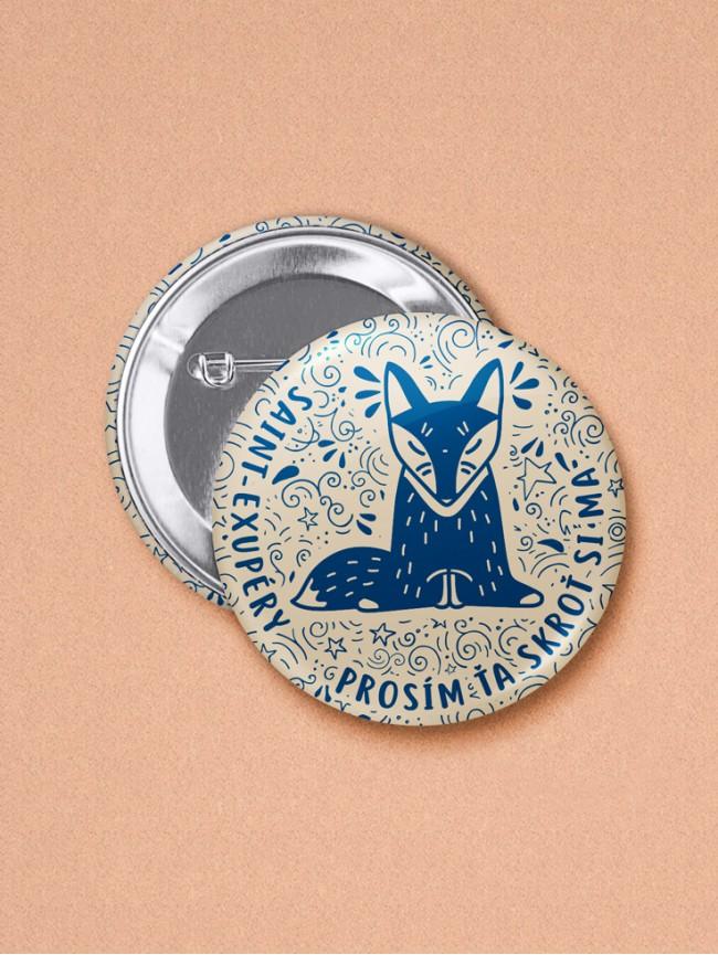 Odznak Exupéry líška 37 mm