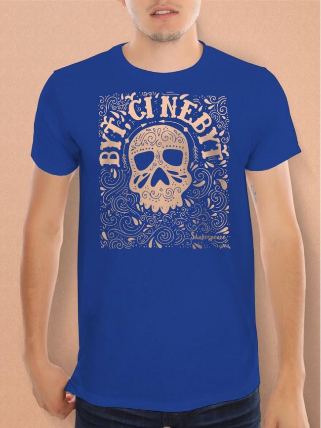 Shakespeare tričko unisex modré