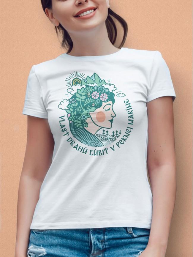 Sládkovič tričko dámske biele