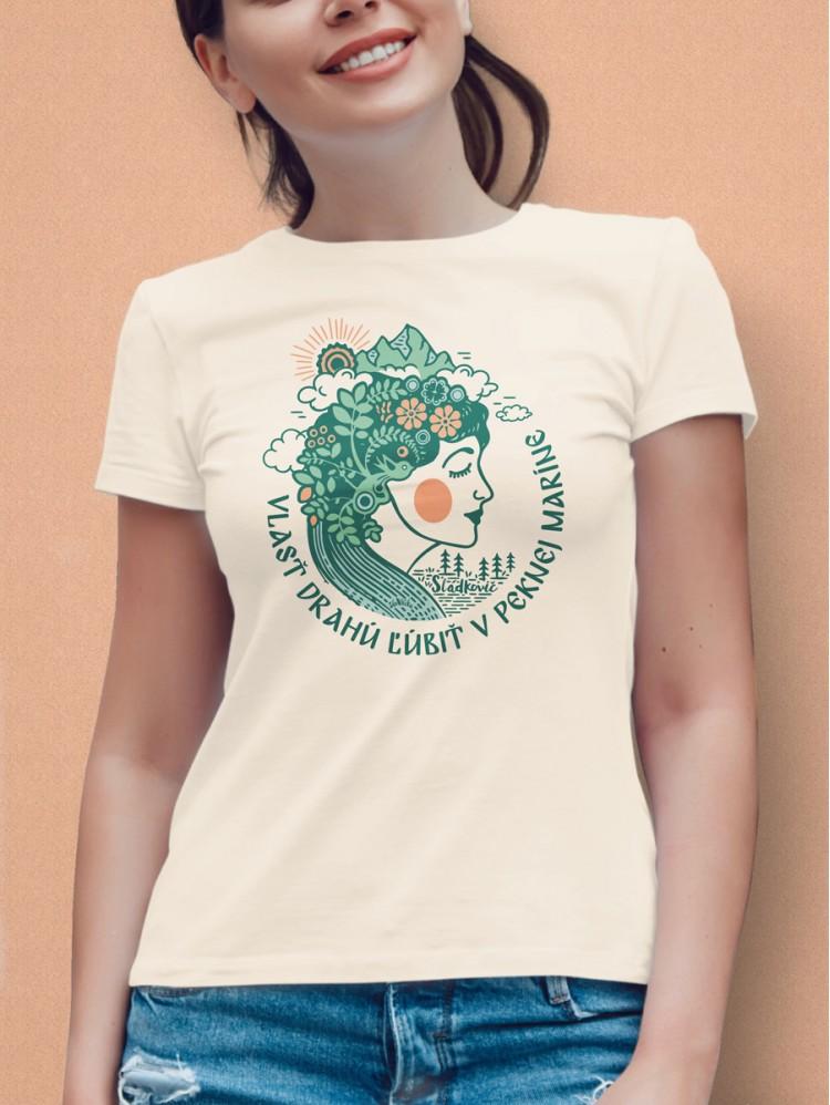 Sládkovič tričko dámske natural