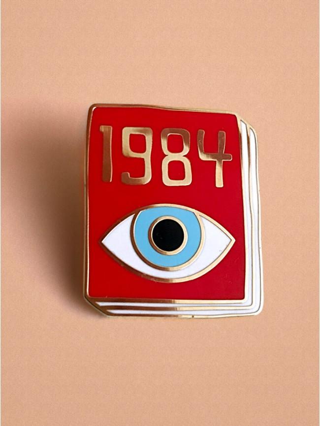 Kovový odznačik kniha 1984 od Georga Orwella